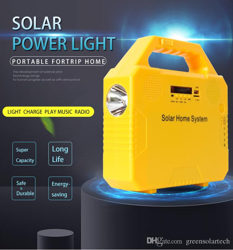 Portable Solar Generator with Solar Panel,Included 2 Sets LED Lights,Solar Power Inverter,Electric Generator,Small Basic Portable Generator