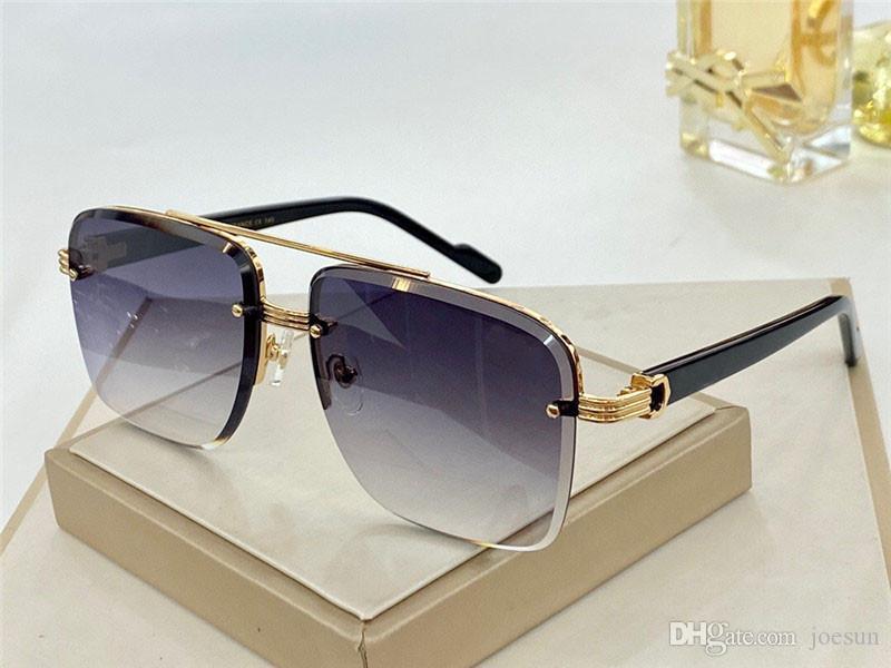Yeni moda tasarım 0982 basit kare çerçevesiz kristal kesme çerçeve popüler açık hava yaz koruma UV400 toptan gözlük güneş gözlüğü