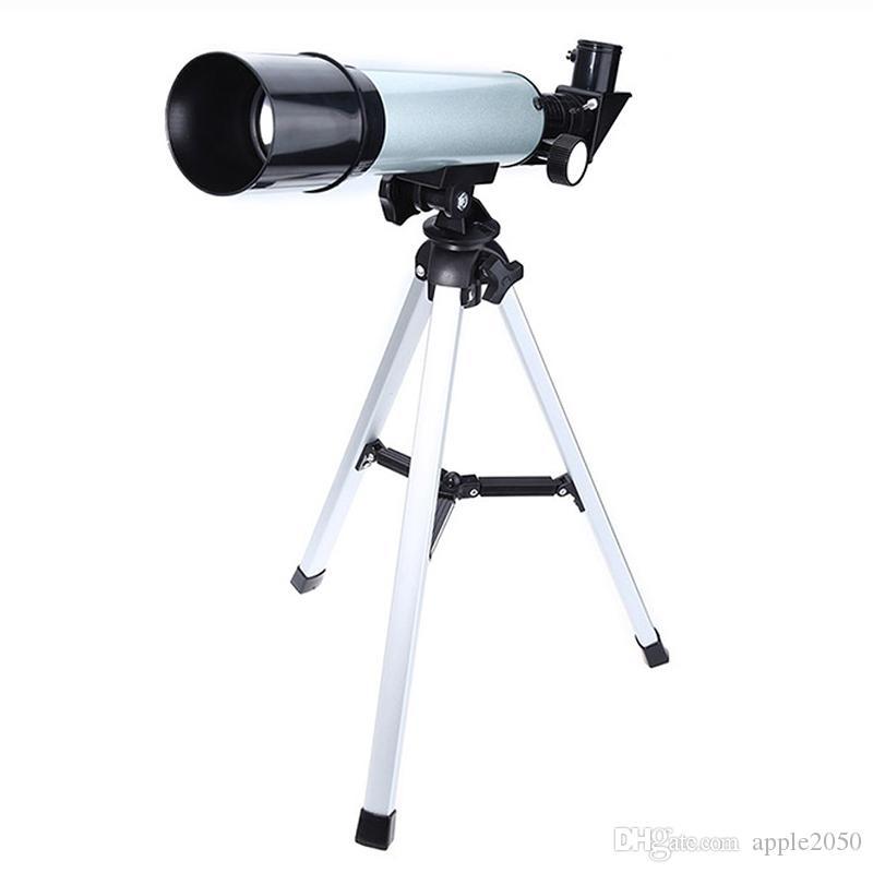 Monoküler Çocuklar Yetişkinler için Taşınabilir Tripod Keşif Hediyeler Oyuncaklar ile Astronomik Teleskop 360x50 Refractor teleskopu f36050