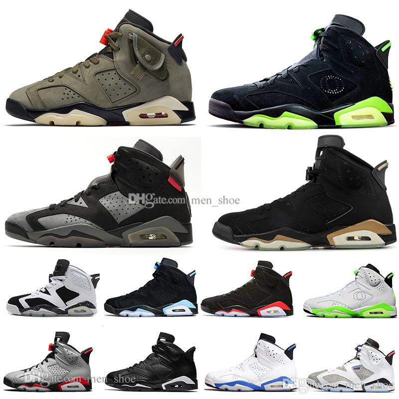 2019 Travis Scotts Infrared men Bred 6 6s Basketball Shoes mens CNY Carmine Gatorade Green Tinker UNC Black Cat Designer trainers sneakers