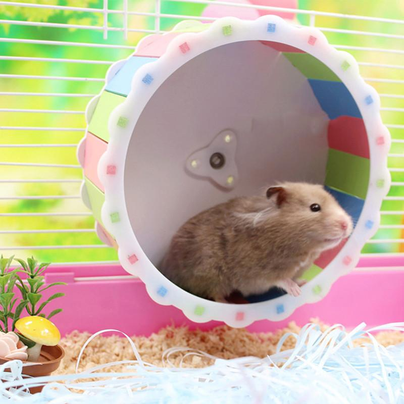 2019 Venta caliente pequeño juguete para mascotas hámster rueda corriente mascotas Deportes Juguete lindo hámster seguir funcionando Juguete Rueda