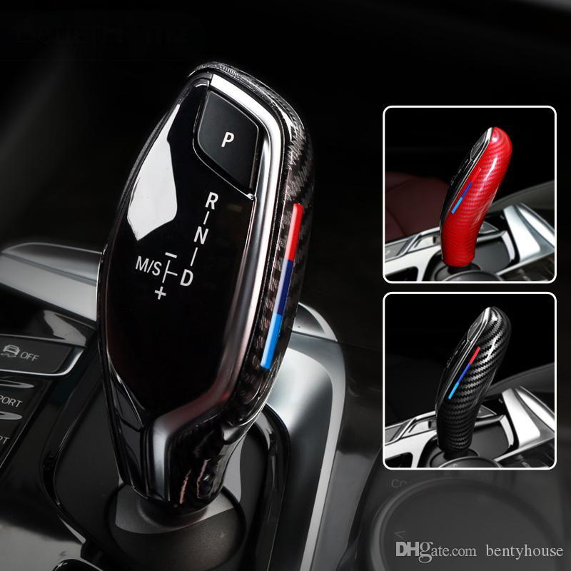 Auto Gear testa pomello del Cambio Della Copertura Abs Gear Shift Freno A Mano Grip caso Decor Pomello Del Cambio Borsette per BMW G30 G31 G01 G02 G32 5 Serie X3