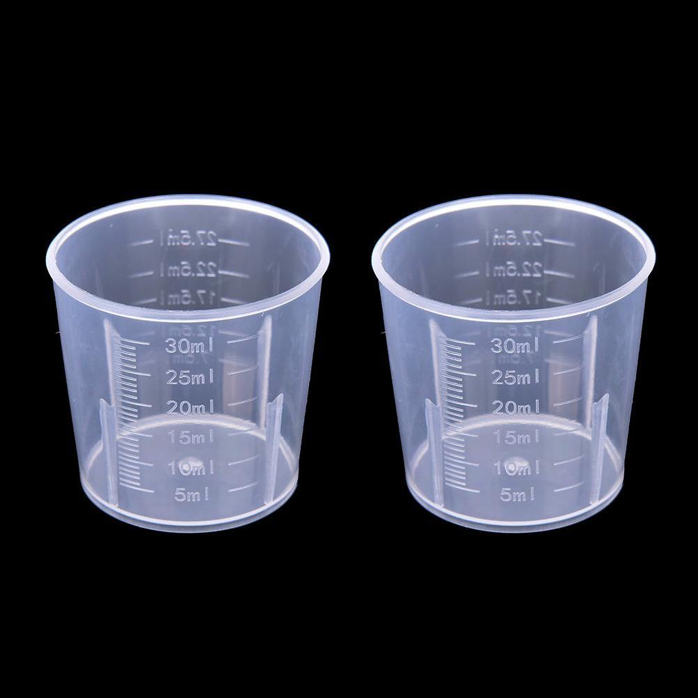 20ml / 30ml / 50ml / 500ml de medición transparente Copa con la escala de la categoría alimenticia de plástico Herramientas de medición para el bricolaje hornear barra de cocina Accesorios de mesa