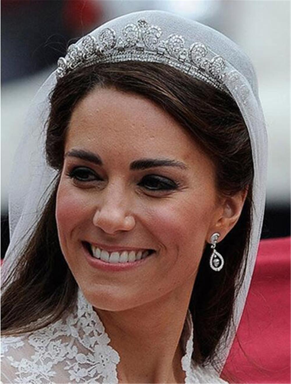 Noiva Vintage Coroa Kate Princesa Royal Coroas Mulheres Tiaras Headdress Nupcial Princesa Headdress Headpieces Acessórios