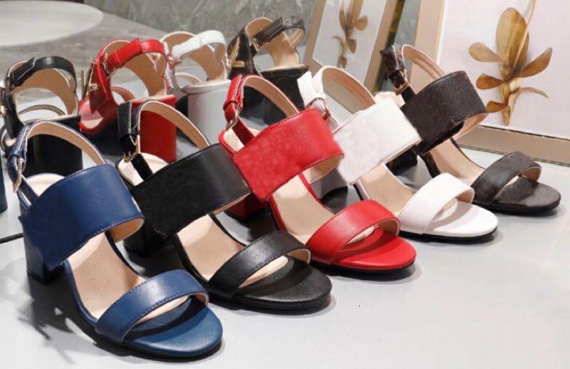 Marque Nouvelle Véritable Cuir Femmes Sandale designer Femme Talons diapositives femme lady Robe Chaussures sapatos femininos zapatos mujer sandalias