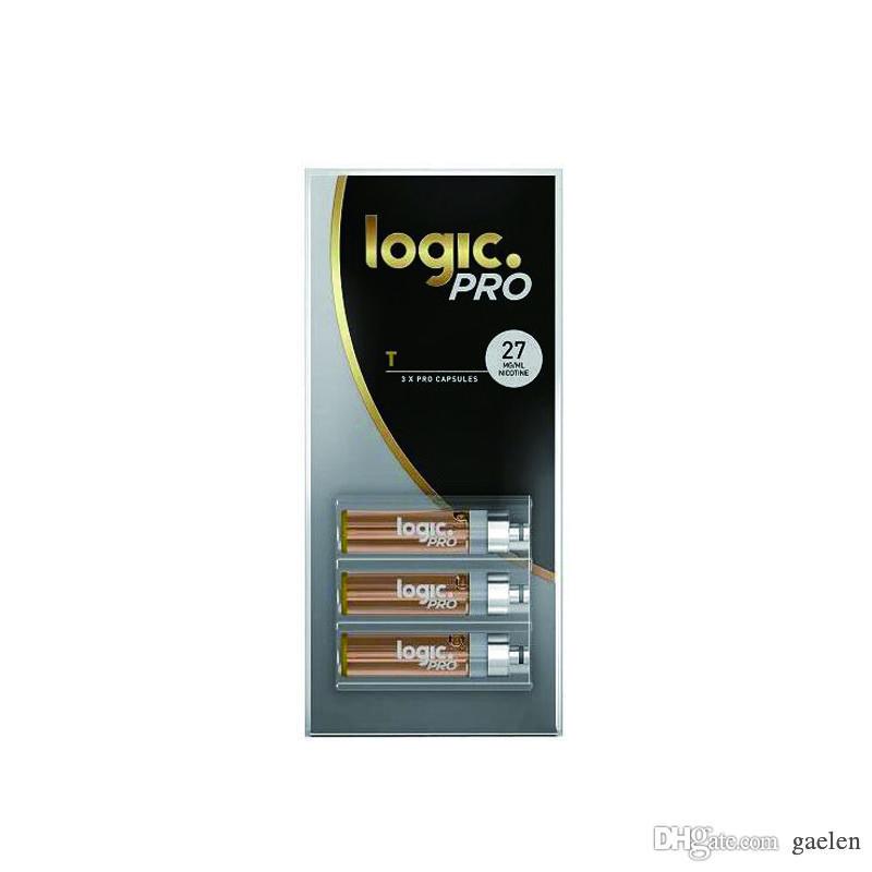 LÓGICA Ecig PRO LOGIC 3X RECARGA DE CARTUCHOS PREMIUM 10Pack / LOT E CIG CALIENTE VENTA EN MERCADO EE.UU. VAPE PEN