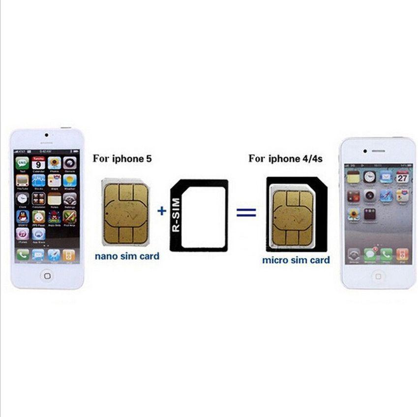 carte sim iphone 4 et 5 Acheter 4 En 1 Noosy Nano Micro Adaptateur De Carte SIM Eject Pin