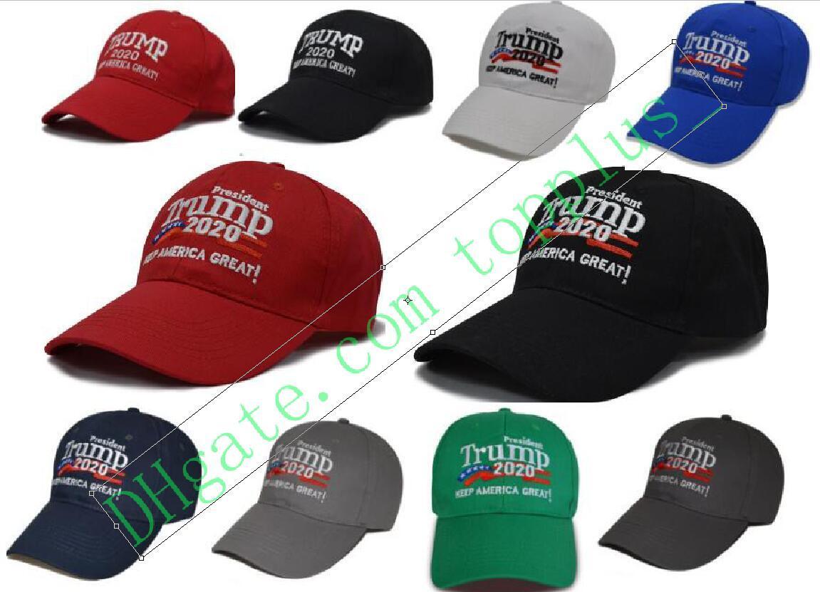 10 types président américain Trump présidentielle camouflage casquette de baseball trump2020 Chapeau de broderie Imprimer Casquette de baseball