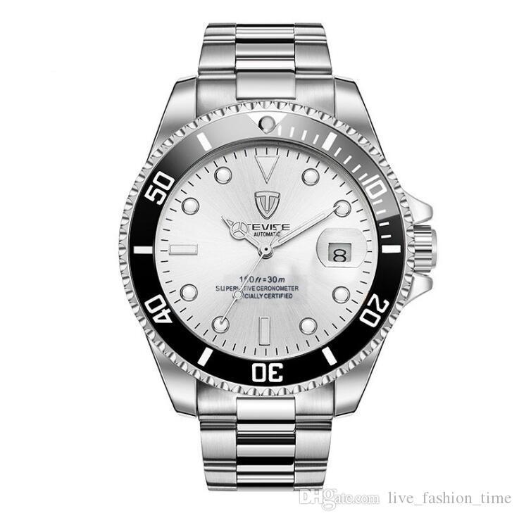 2020 Tevise Марка Мужские механические часы Светящийся конструктор автоматические часы Мужской часы Relogio Спортивные мужские Мужчина для Наручные часы # 9