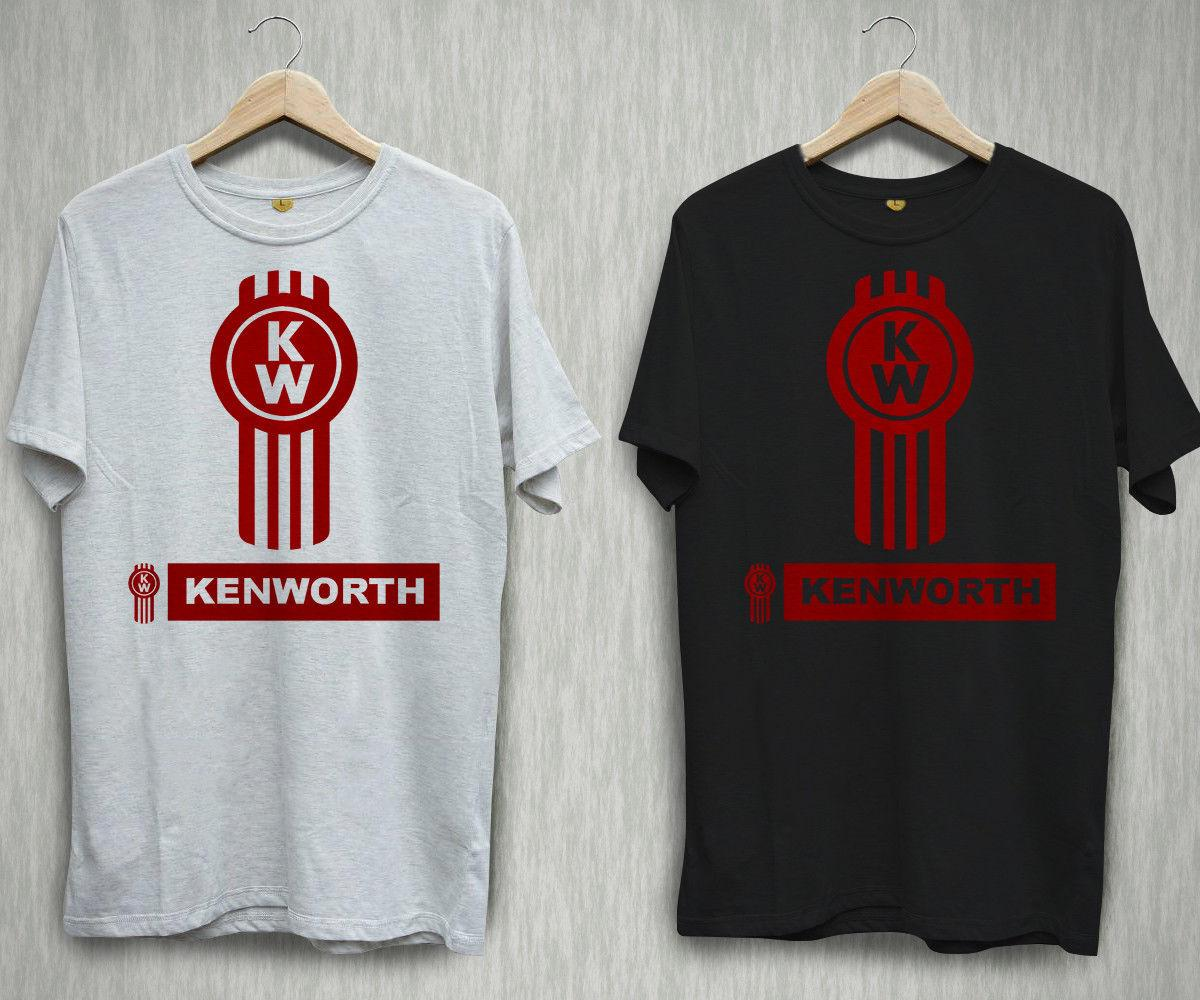 New Kenworth Trucker Trucks Logo Men/'s Black T-Shirt Size S to 3XL