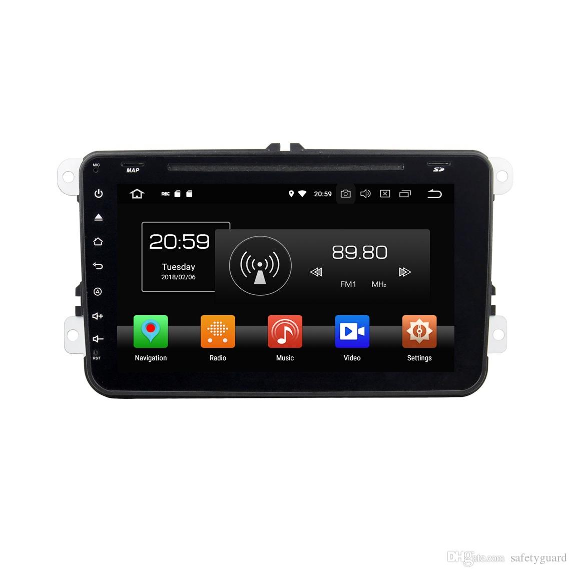 "IPS PX5 Octa Core 2 din 8"" Android 8.0 Car DVD Radio GPS for VW Skoda Octavia Golf 5 Golf 6 Caddy Passat Tiguan Touran Jetta Seat Polo"