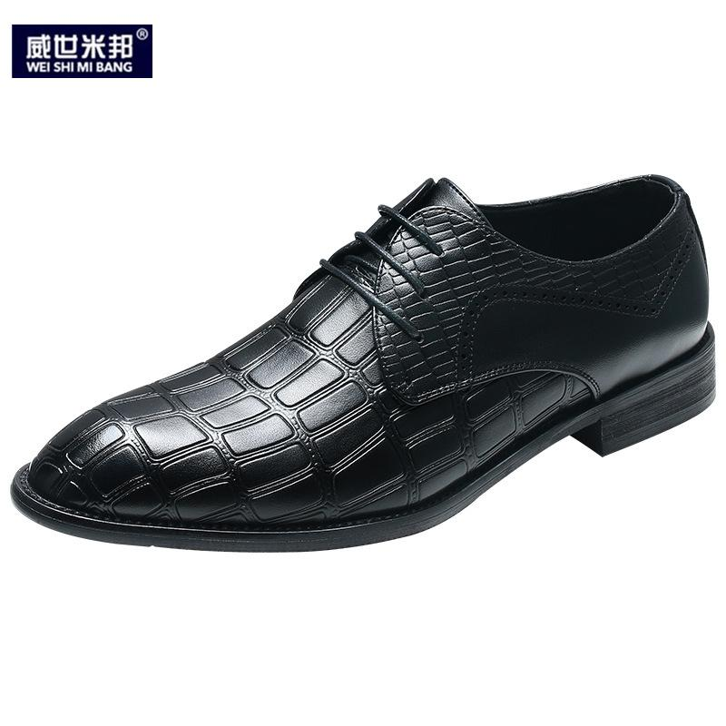 Sapatos Casuais dos homens Novos de Inverno Lace Up Vestido Formal Homem de Negócios Sapatos de Escritório Estilo Britânico Sapatos de Casamento Homem