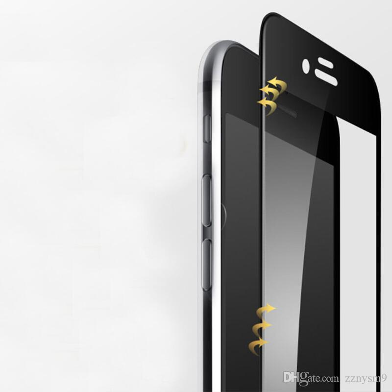 Verre Trempé En Fiber De Carbone 3D Courbé Pour iPhone 8 7 6 6 S Plus X X Max XR Protecteur De Téléphone Mobile Film De Protection Écran X7
