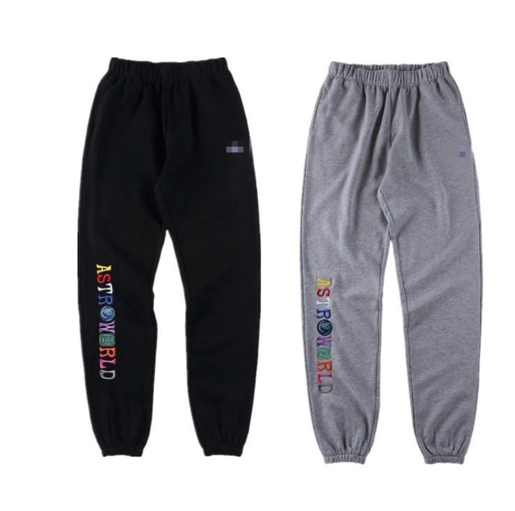 TSA Joggers Printemps Nouveau Hommes Sport Broderie Big C Peace Pantalones TRAVIS SCOTT Pantalon AstroWorld