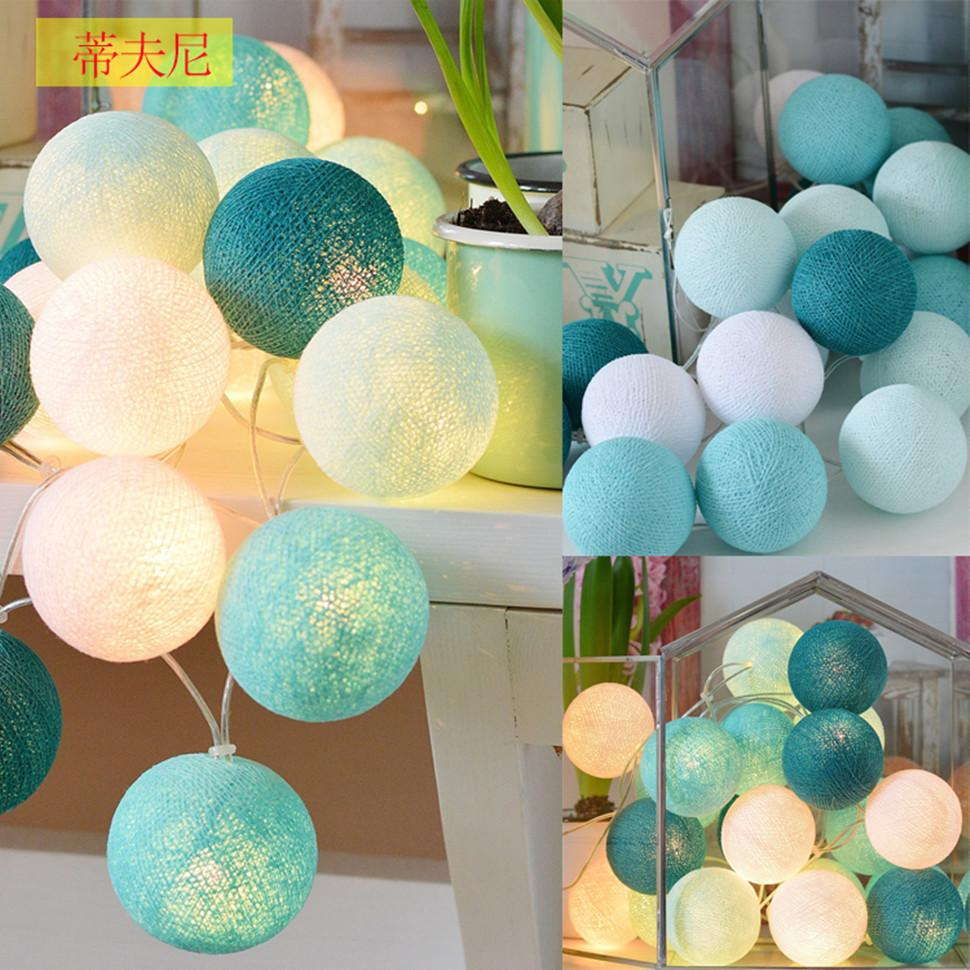 Chasanwan 3 M 20 Light Line Ball String Wedding Party Decoration Rattan Ball Led String New Year Christmas Decorations For Home Y19061103