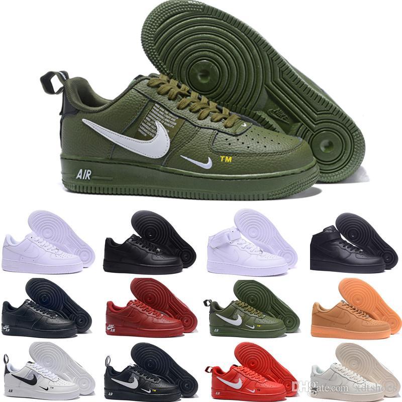 Compre Nike Air Force 1 One Dunk Off White Con Caja One 1 Dunk Zapatillas  De Running Para Hombre Mujer Negro Blanco Rosa Zapatillas De Deporte Para  ...