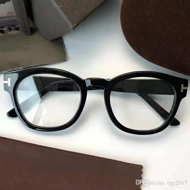 NEWEST designTF0590 eyewear frame muti-shape pure-plank big frame 51-21-145 unisex prescription glasses full-set case OEM outlet
