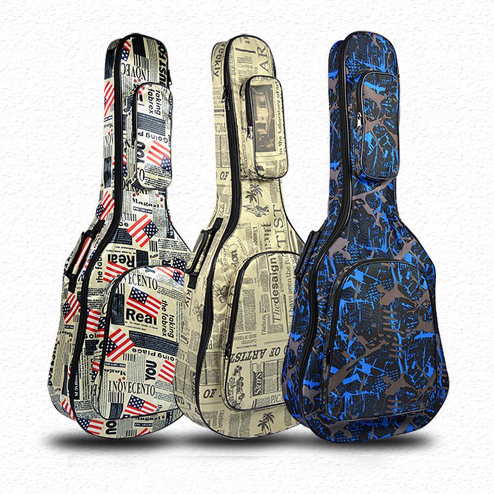 """40/41 """" классическая гитара сумка водонепроницаемый 600D Оксфорд гитара чехол толстая губка концерт сумка с ремнями"""