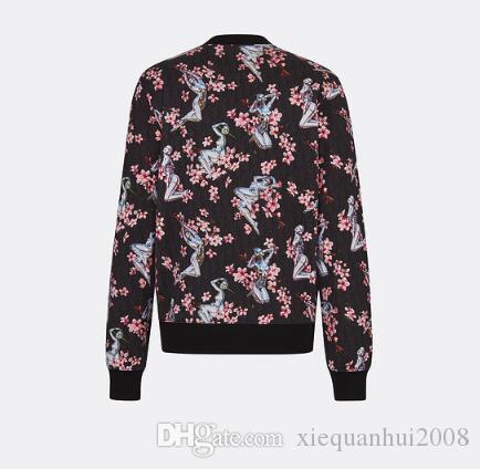 2019 가을 유럽과 미국 여성의 새로운 인쇄 스웨터 - 긴팔 셔츠 대외 무역 뜨거운 돈