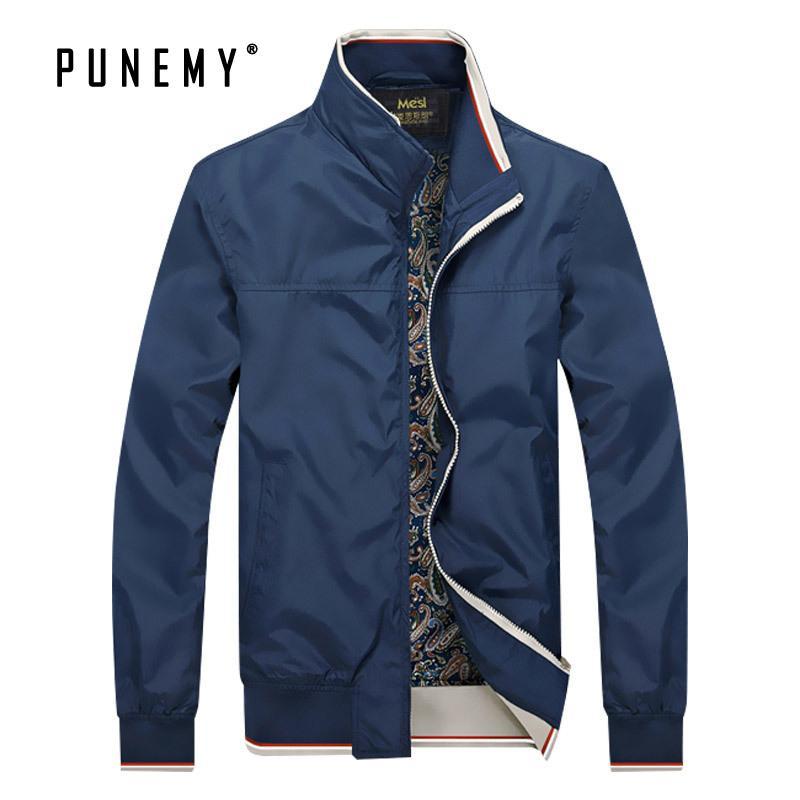 재킷 남성 플러스 사이즈의 M-8XL 캐주얼 지퍼 스탠드 칼라 2019 가을 새로운 착실히 보내다 남성 재킷 코트 스트리트 남성 브랜드 옷
