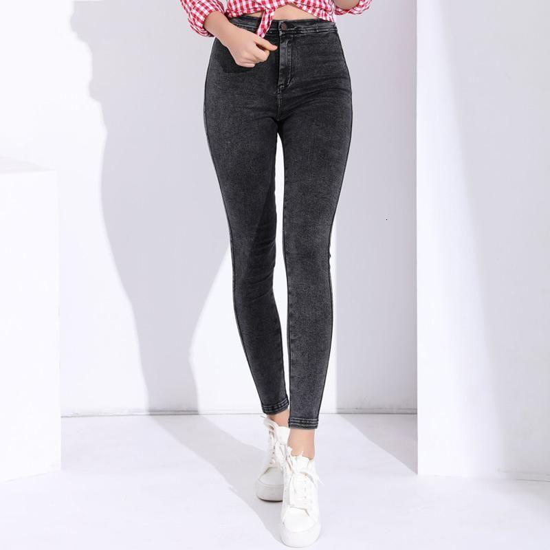Compre Jeans Para Mujer Mujeres Disenador De Los Pantalones Vaqueros Flacos Mujer Pantalon Femme Pantalones Strech Para Mujer De Color Pantalones Vaqueros Apretados Con Peso Medio De Talle Alto A 28