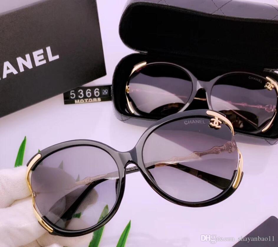 2019 nuevas gafas de sol polarizadas femeninos ocasionales de los nuevos vasos textura súper personalidad con la caja de juego completo