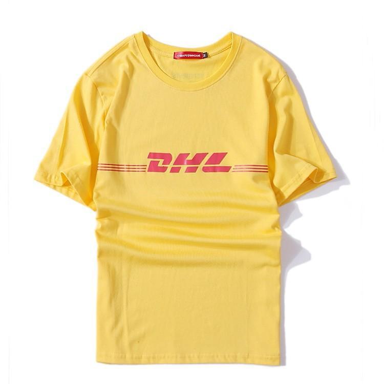 Vetements летняя мода мужчины футболка дизайнер хип-хоп хлопок с коротким рукавом Гоша повседневная желтая футболка S-3XL