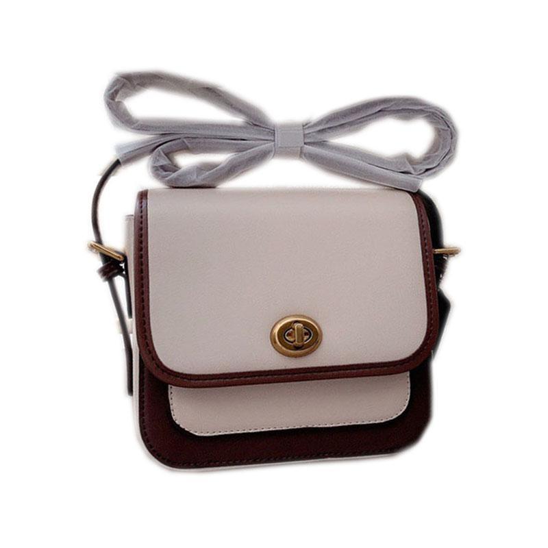 harfler kutusunda 18 * 17cm ile iki seçenek Klasik eski moda kadın moda tasarımcısı Coach çanta omuz çantası çanta çapraz çanta