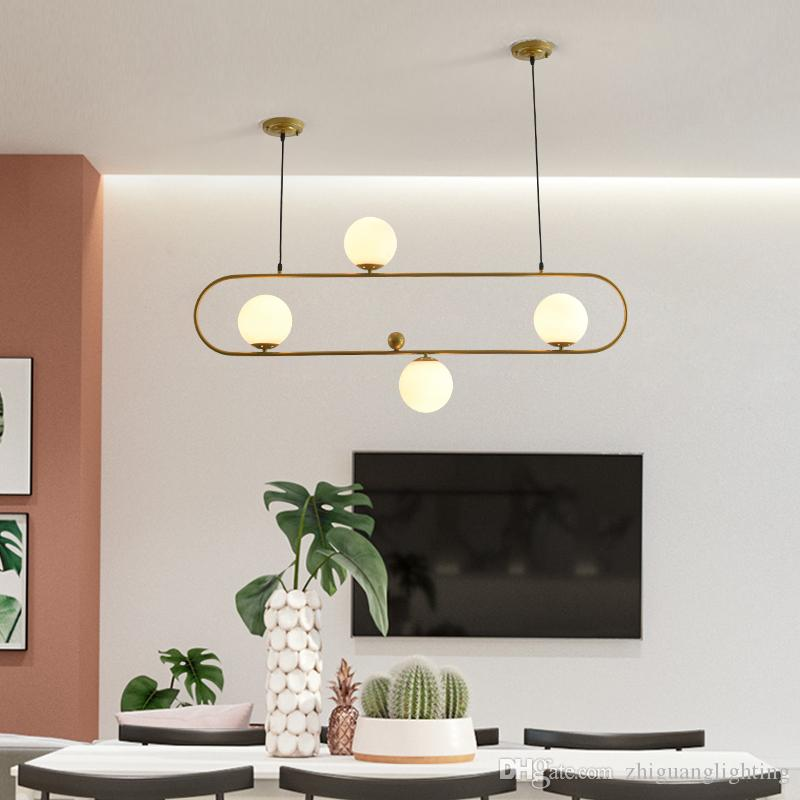pendant nordic light restaurant chandelier simple personality creative bar dining room living room oval glass ball chandelier
