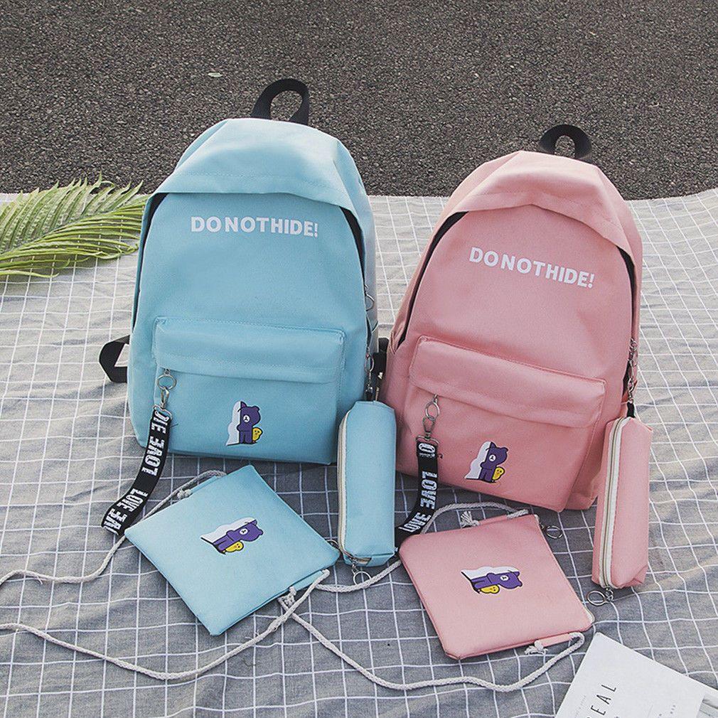حقائب الفتاة المرأة قماش جلد السفر حقيبة الظهر حقيبة المدرسة الظهر