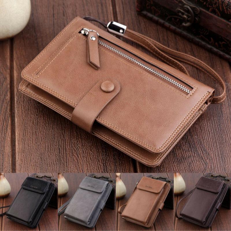 Long Business Carteiras Unisex Bifold de homens Billfold Purse Moda portátil Telefone Bolsa Para homens cartão de crédito Magro Titular pacote