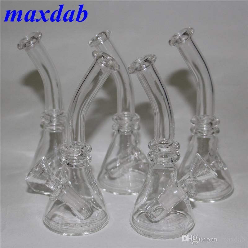 Mini Glasbecher Bongs Wasserpfeifen 4,5 Zoll Höhe Mit 10mm Innengewinde Günstige Glas Ölplattformen Becher Bongs