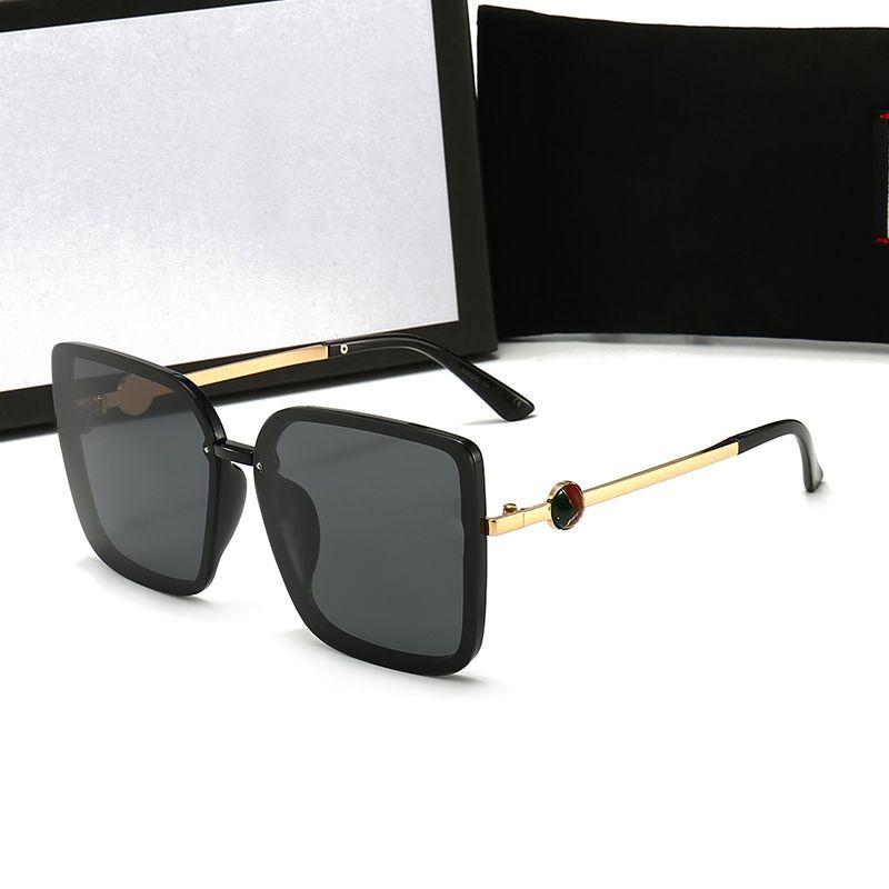 Primera marca de alta calidad de la trama grande de la manera gafas de sol para hombres y mujeres deporte de la vendimia Gafas de sol con caja y la caja Do