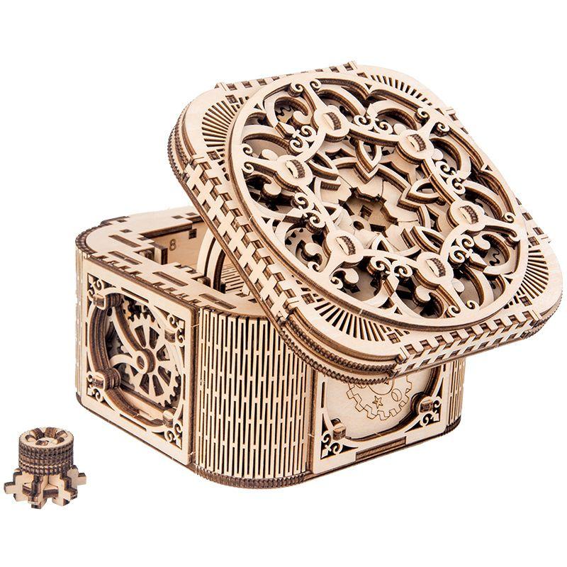 2019 neue Holz Schmuckschatulle montiert kreative Spielzeug Geschenk puzzle Holz mechanische übertragung Modell montiert Spielzeug DIY Geschenk Y200414