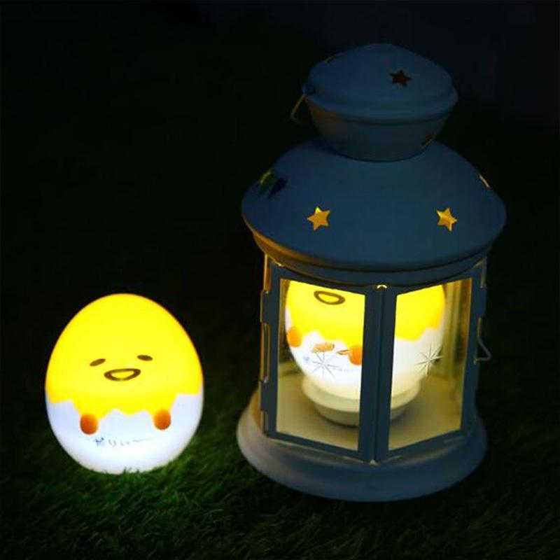 Yellow Kawaii Night Light, Cartoon Lazy Egg Mini Light Night Light Home Decoration Gift 1 pc