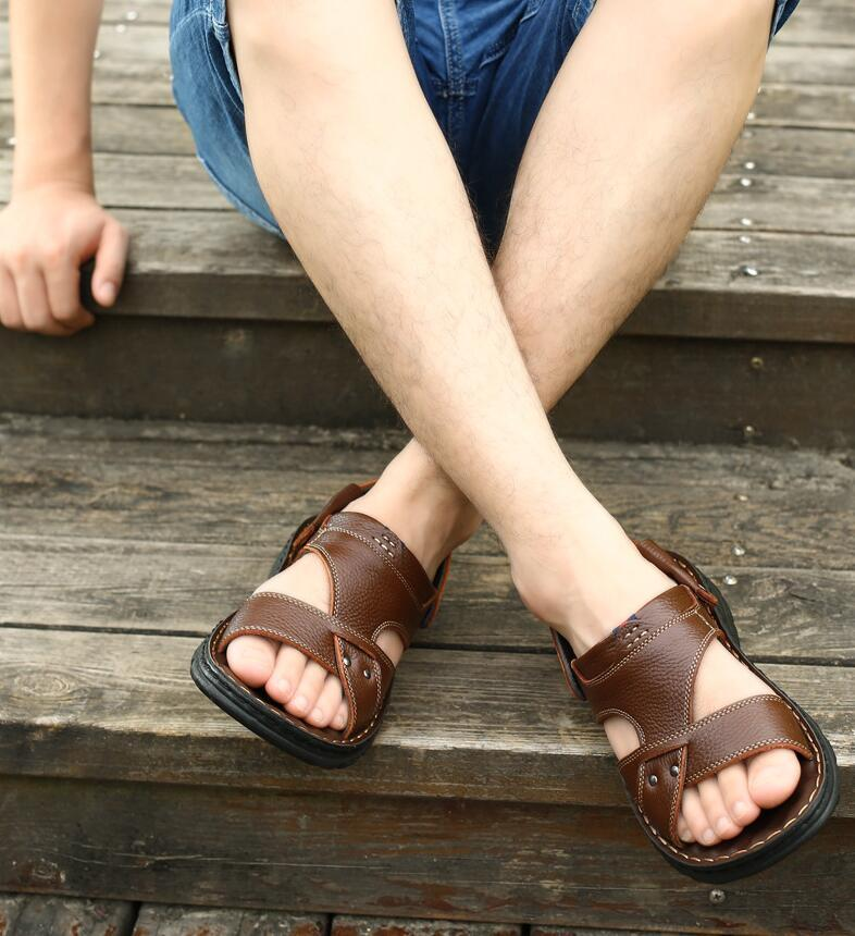 Hot Sale-ther sandals thick-soled breathable slippers