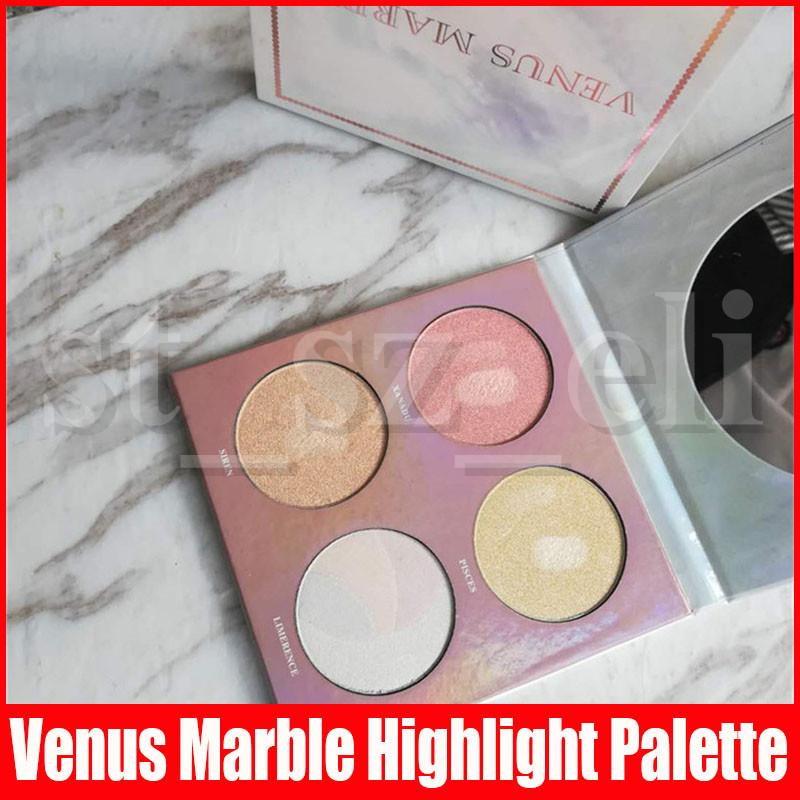 Venus marble highlight Palette Bronzers & Highlight Kit Makeup Face Foundation Powder Blusher Palette highlighter makeup bronzer 4colors