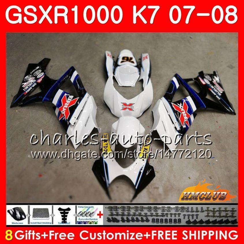 Kuiken voor Suzuki GSXR 1000 GSX-R1000 K7 GSXR-1000 Blauw X Hot Koop 07 08 Carrosserie 12HC.81 GSX R1000 GSXR1000 07 08 2007 2008 Full Body Kit