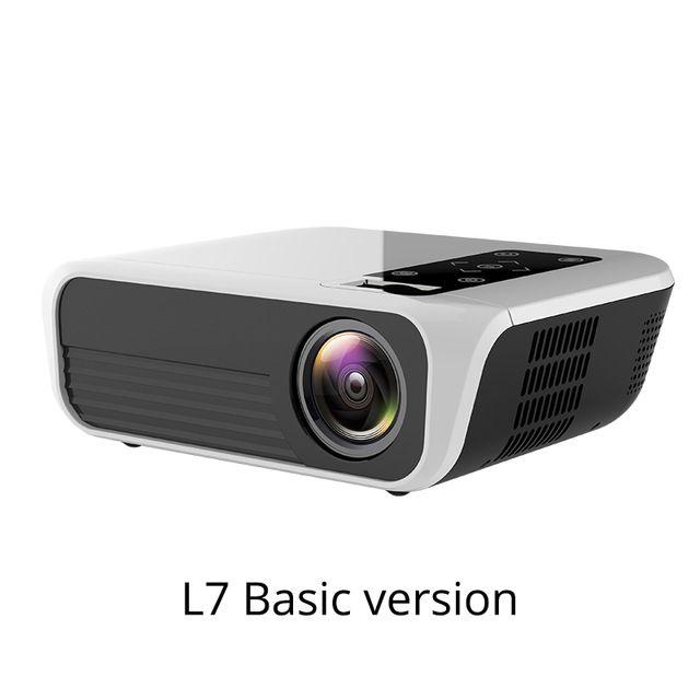 Freeshipping L7 LED Native 1080P Projector full HD mini brands USB beamer 4500 Lumens Android 7.1 wifi Bluetooth Home cinema HDMI