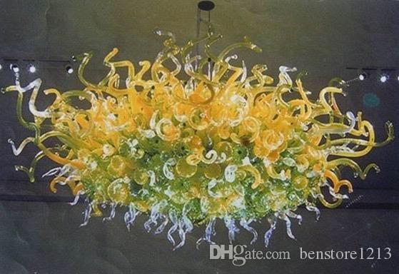 펜던트 램프 100 % 입 블로운 붕 규산 마노 유리 샹들리에 라이트 아트 로비 장식 산업 펜던트 램프