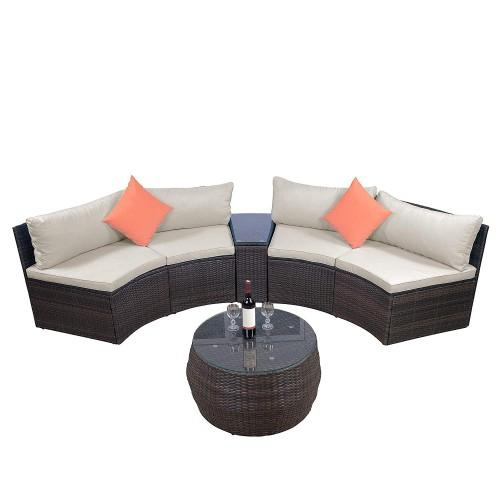 2019 Furniture Sets, Outdoor Sectional Furniture Wicker Sofa Set With Two  Pillows And Coffee Table From Twonecessities, $956.46   DHgate.Com