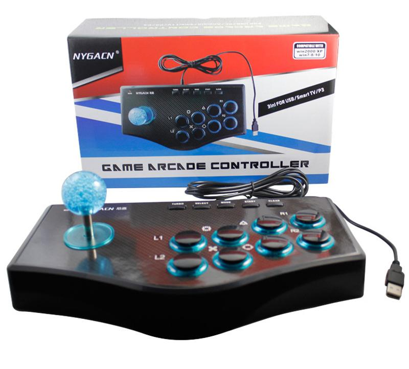 Controller gamepad Joystick for PS2 computer TV projector PS3 Android phone wired King of Fighters arcade game rocker