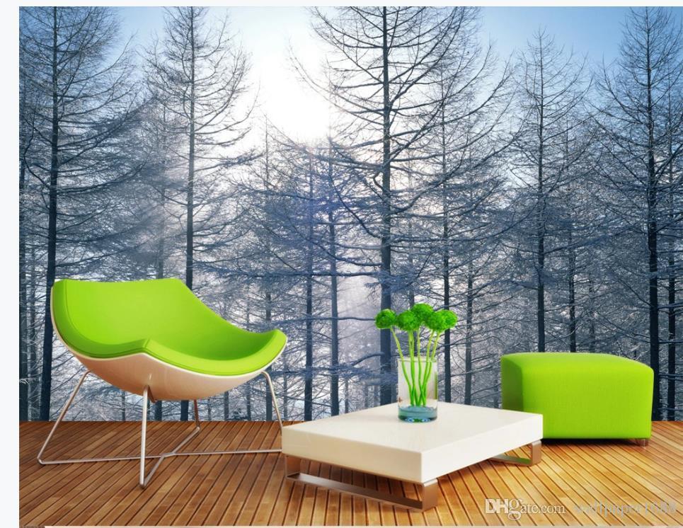 Woods 3D paysage fond d'écran de peinture murale pour les murs 3 d pour le salon