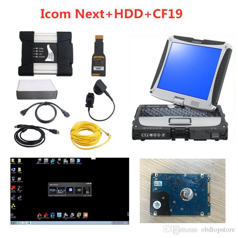 2020 Pour BMW Scanner de diagnostic pour BMW Icom suivante avec le logiciel disque dur de 500 Go ISTA Mode Expert avec un ordinateur portable CF19 plein prêt à l'emploi