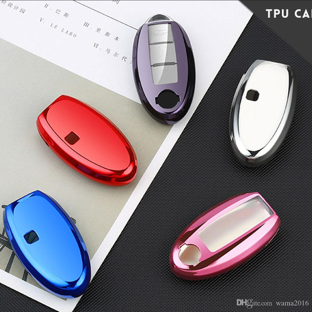 Remote key ring Car key cover shell case For Nissan Murano March Geniss Tiida Livina Sylphy Sunny Almera nice touch Car Styling