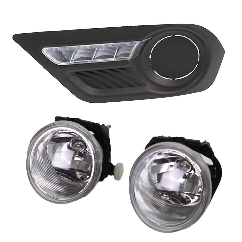 MASUNN en Forma de U LED Coche Niebla DRL conducci/ón luz Diurna Niebla 6000K