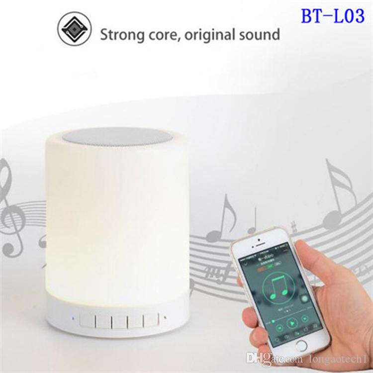 new Hot Selling Portable Rechargeable Mini USB Battery LED Table Lamps with Hifi Speaker and Touch Sensor Night lamp