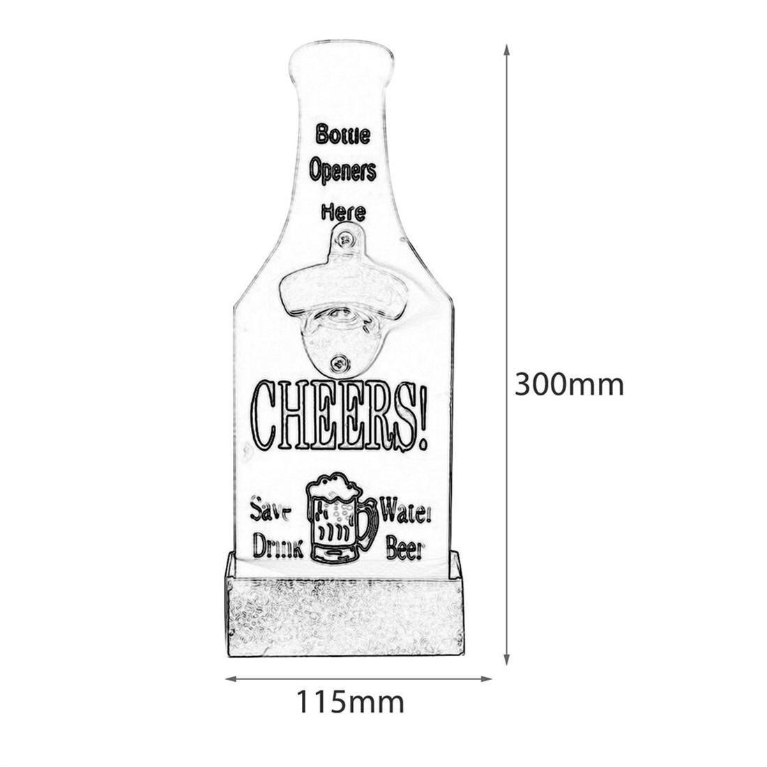 Abridor de garrafas de cerveja barra de parede com tampa Cap Catcher Moda Cap vintage de garrafas de cerveja captura parede abridores de garrafas para parede Decoração -Gray