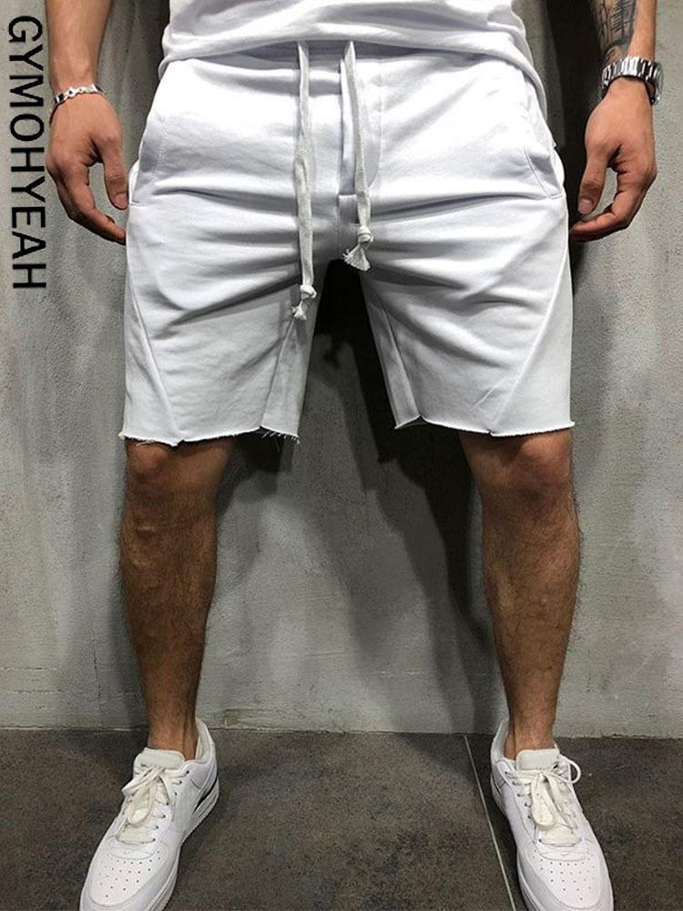 GYMOHYEAH 2019 Nuovo allentato Cargo Shorts uomini freddi estate pantaloni di scarsità di vendita calda Homme merci bermuda Masculina MODIS streetwear Y200108