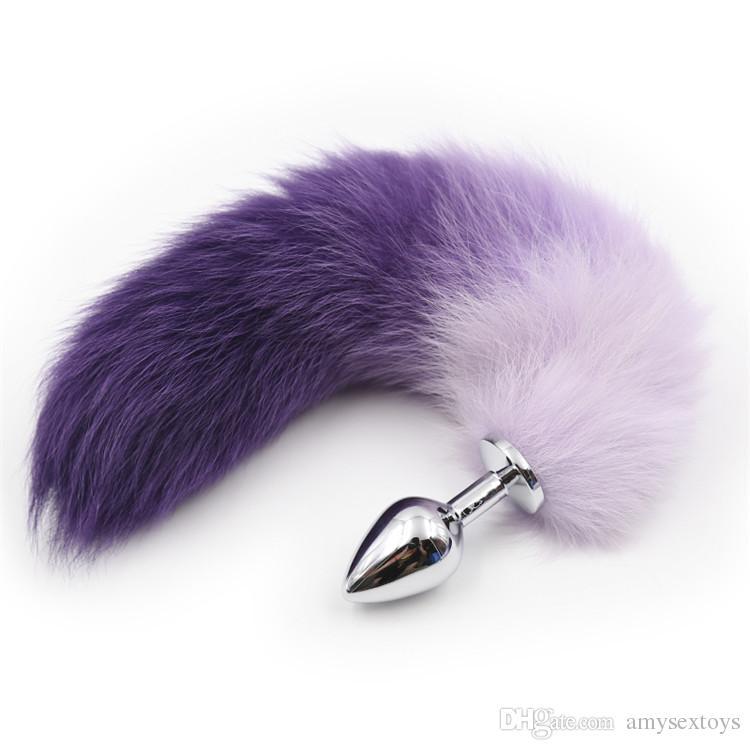 Grânulos de aço inoxidável, mas plugue sexo jogo produtos para adultos, brinquedo anal feminino, engraçado anal recheado bonito fox cauda sex toys